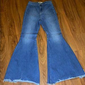 Denim bell bottom jeans
